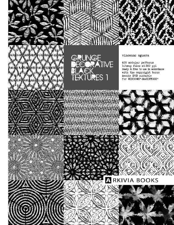ARKIVIA BOOKS Grunge Decorative Black Textures 1
